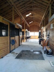 Clean Barn Aisle