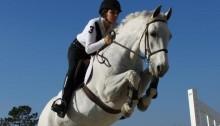 Molly Paladino Jumping Her Horse